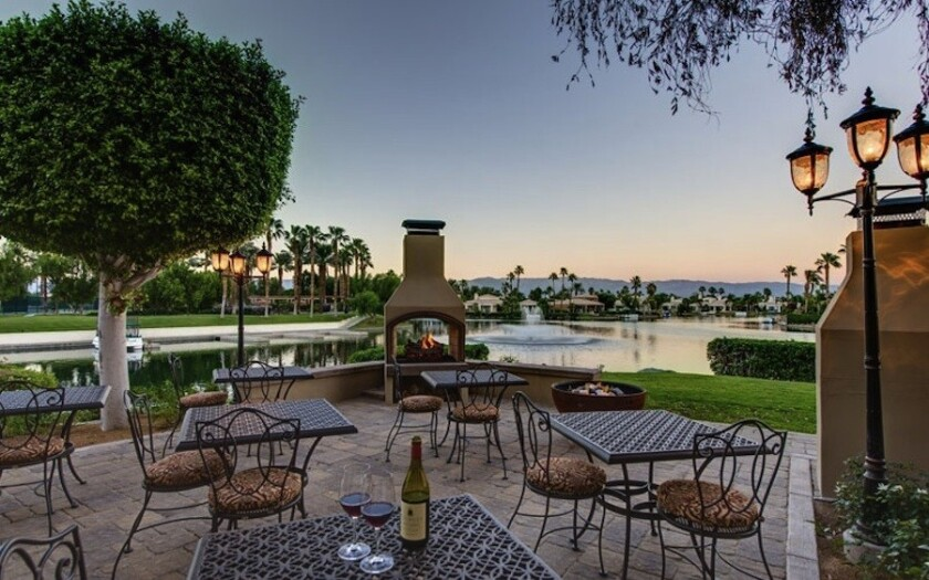 The Chateau at Lake La Quinta is located on a 25-acre man-made lake near Palm Springs.