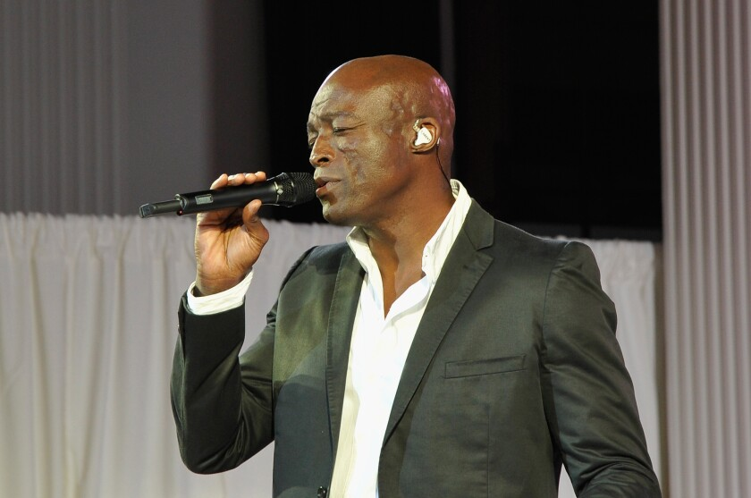 Seal performs in Los Angeles in 2016.