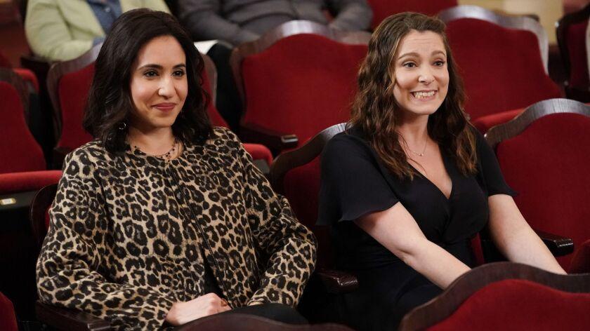"Gabrielle Ruiz, left, and Rachel Bloom in ""Crazy Ex-Girlfriend"" on The CW."
