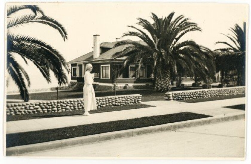 Virginia Scripps at Wisteria Cottage c.1920  Photographer unknown, La Jolla Historical Society Collection