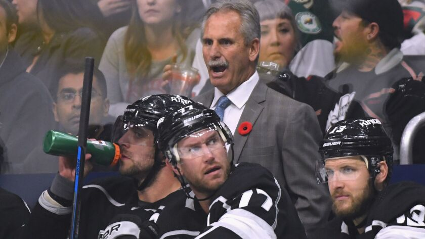 Kings coach Willie Desjardins was the coach of the Vancouver Canucks until being fired in 2017.