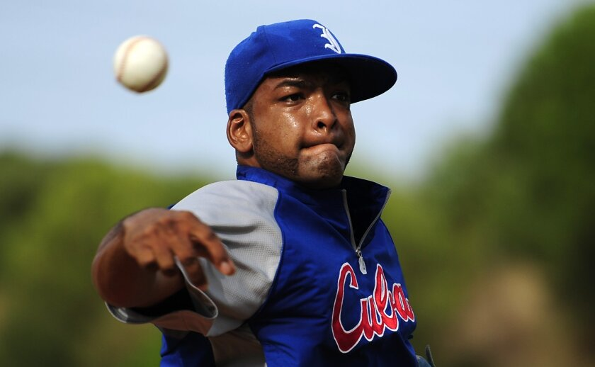 Padres pitching prospect Odrisamer Despaigne signed with the team in May after defecting from Cuba last summer.