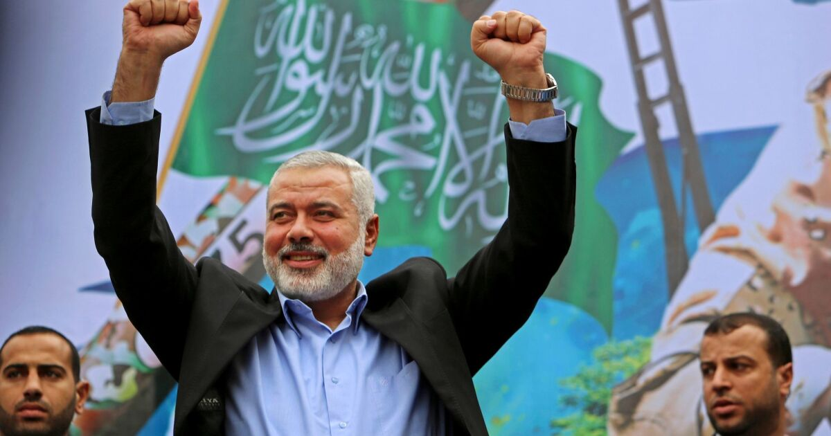 Hamas Selects Popular Gaza Politician Ismail Haniyeh As Its New Leader Los Angeles Times