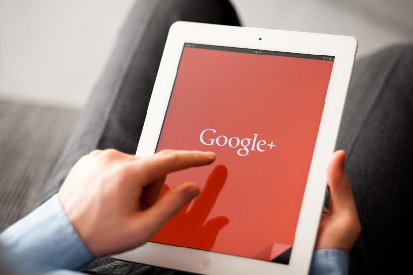 The Google+ network made its debut in June 2011, acting as a social media outlet but failed to compete with platforms like Facebook and Twitter.