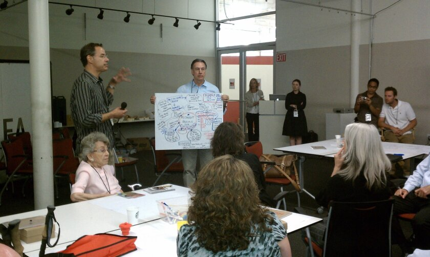 Tom Custer of the Greenhaus design firm shares his group's ideas for the I.D.E.A. District.