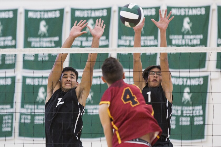 Costa Mesa's Ethan Elliott named to All-Orange Coast League first team in boys' volleyball