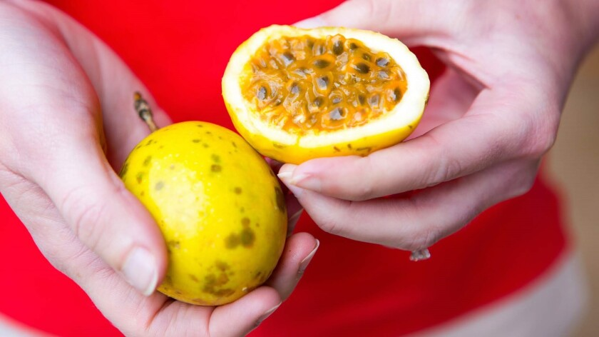Passion fruit is one of the dozens of fruits and vegetables that Monkeypod Jam sources exclusively from growers on Kauai.
