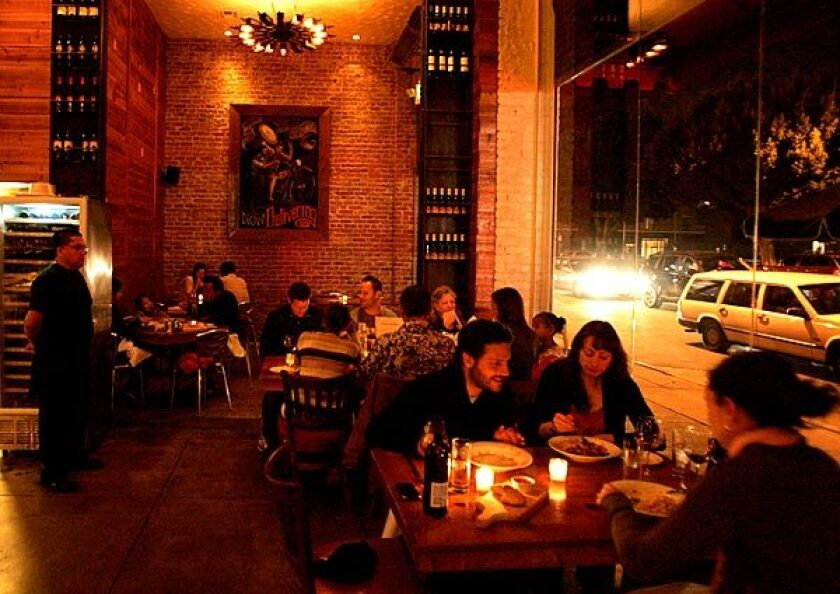 La Buca has an authentic urban feel with its brick walls, full bar and windows that overlook Melrose Avenue.