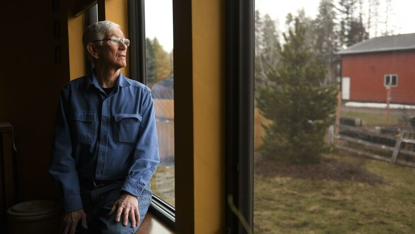 David LeBleu, 73, at his home in Whitefish, Mont. LeBleu supports refugee resettlement efforts in Mo