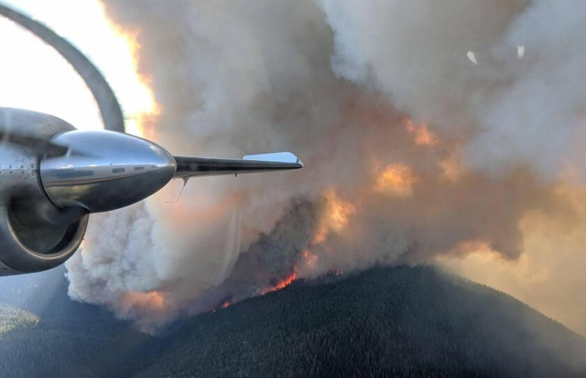 Walker Fire, Sept. 5, from air attack