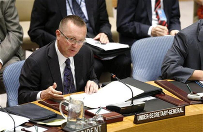 """""""Es imperativo que sus participantes, Naciones Unidas y la comunidad internacional continúen apoyando la total implementación de este histórico acuerdo multilateral durante toda su duración"""", dijo el responsable de Asuntos Políticos de la ONU, Jeffrey Feltman, en un debate en el Consejo de Seguridad. EFE/ONU/SOLO USO EDITORIAL"""