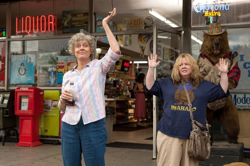 "This image released by Warner Bros. Pictures shows Susan Sarandon, left, and Melissa McCarthy in a scene from ""Tammy."" (AP Photo/Warner Bros. Pictures, Michael Tackett)"