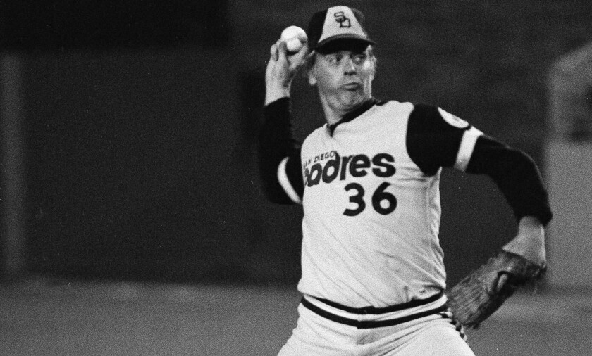 Gaylord Perry pitched for the Padres in 1978 and '79 on his way to the Hall of Fame.