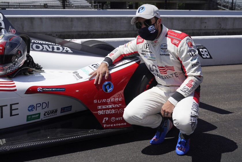 Marco Andretti posted a four-lap average of 231.068 mph in Indianapolis 500 qualifying on Sunday.