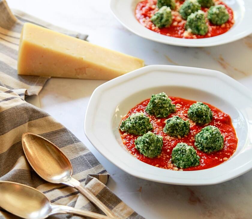 Jill O'Connor's Spinach and Ricotta Gnocchi.