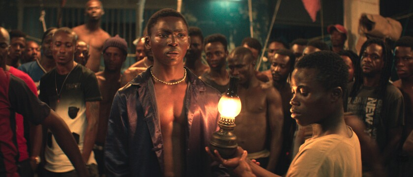 "Koné Bakary, center, and Anzian Marcel in ""Night of the Kings."""