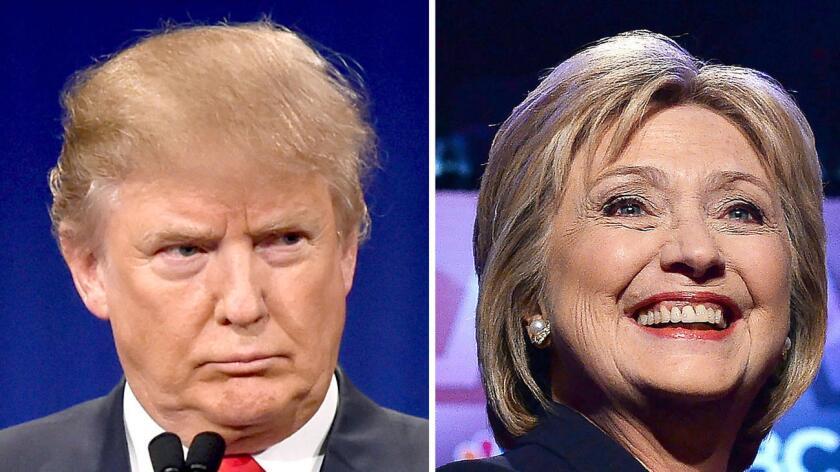 Donald Trump and Hillary Clinton, ambos presuntos nominados a la presidencia de Estados Unidos.