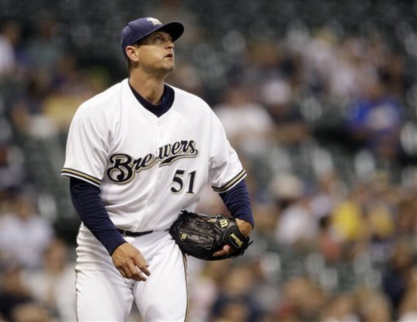 """I had a great run,"" Trevor Hoffman said of his 16 years in San Diego. ""I'm disappointed I didn't get to finish there, but I think they're probably happy with the way things have worked out."""