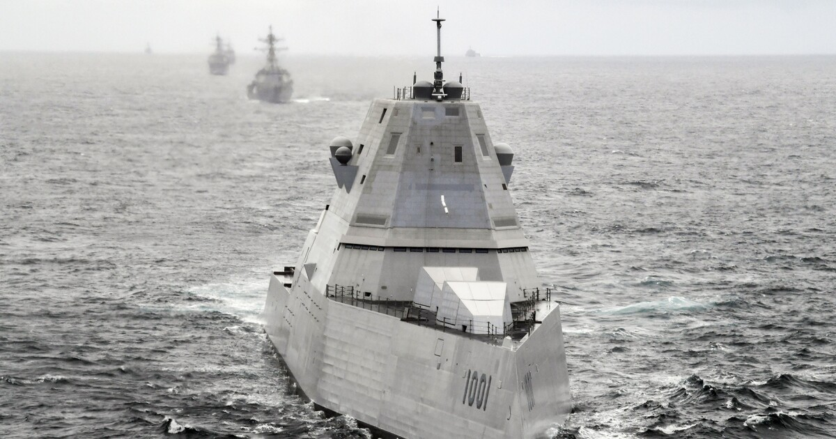 Admiral says Navy has upgraded fire safety, plans to deploy advanced Zumwalt destroyer