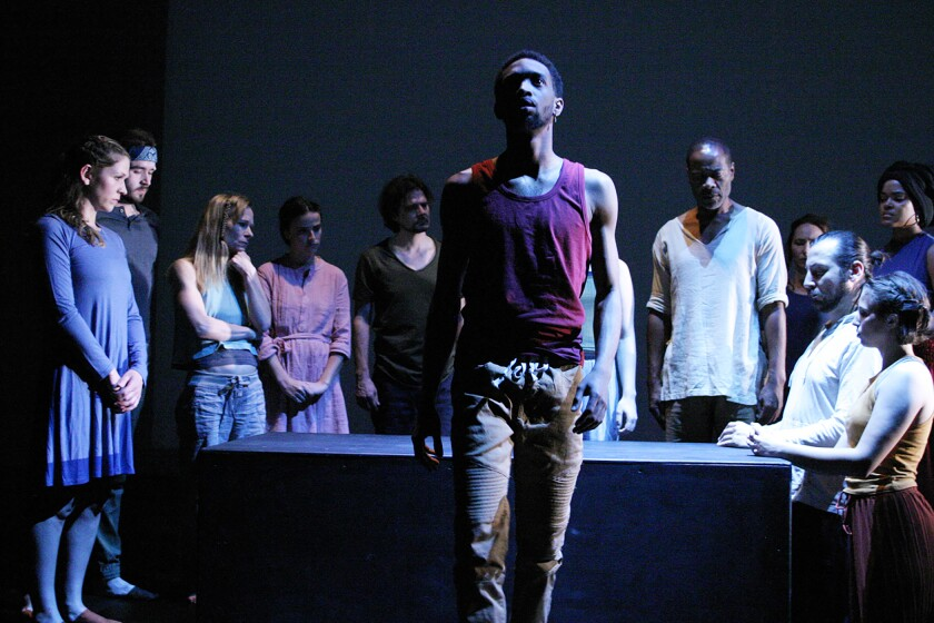 """Ahkei Togun and the cast of """"The Serpent"""" at the Odyssey."""