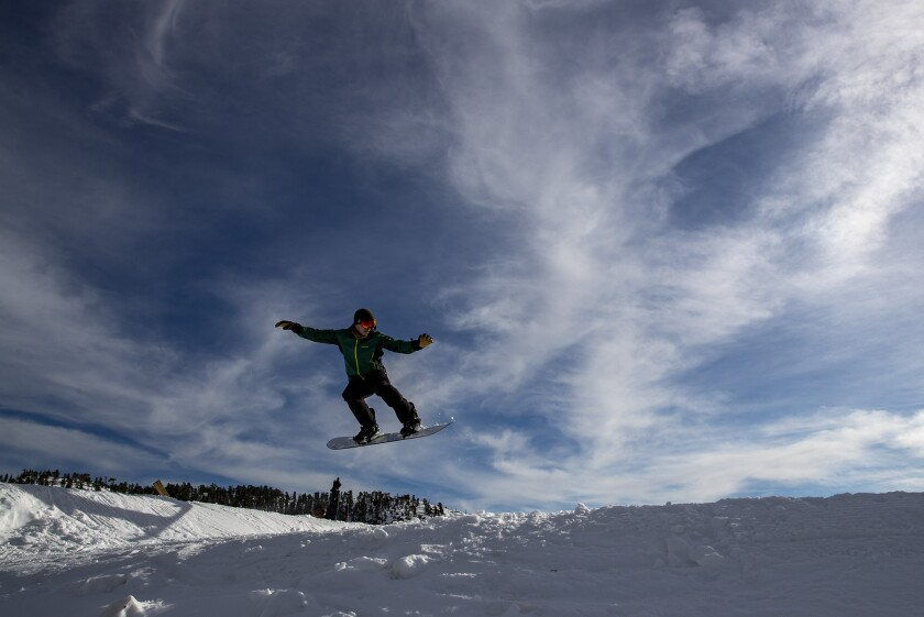 Air time at Mt. Baldy