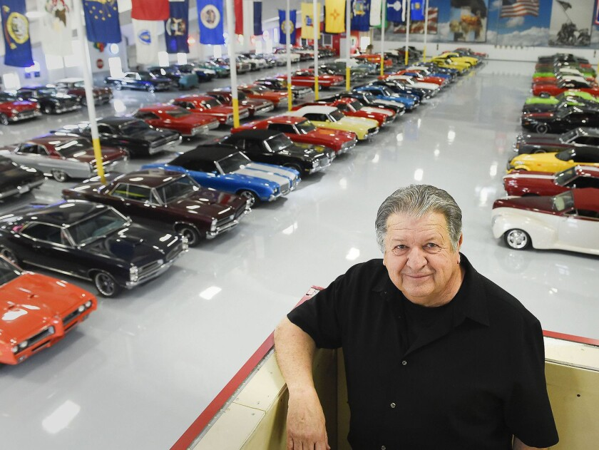 Willis Johnson and his car collection