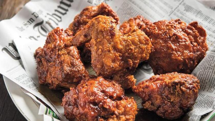 Crack Shack Fried Chicken, Nashville-style, created by Richard Blais. (Evan Sung)