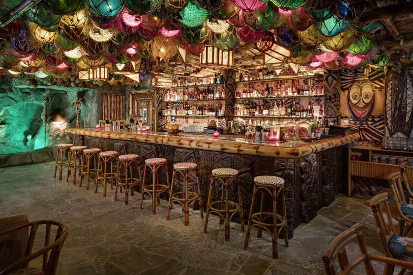 Step into a Polynesian paradise at the False Idol tiki bar, inside Craft & Commerce in Little Italy. (Zack Benson)