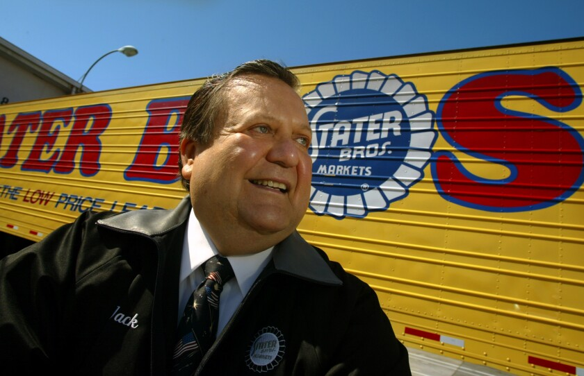 Jack H. Brown, the executive chairman of Stater Bros. who spurned other counties and states to keep the supermarket chain in San Bernardino, died Sunday at age 78.