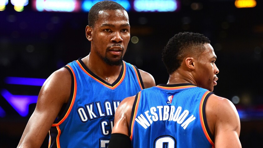 Thunder All-Stars Kevin Durant and Russell Westbrook begin another run together in the Western Conference playoffs with a first-round series against the Dallas Mavericks.