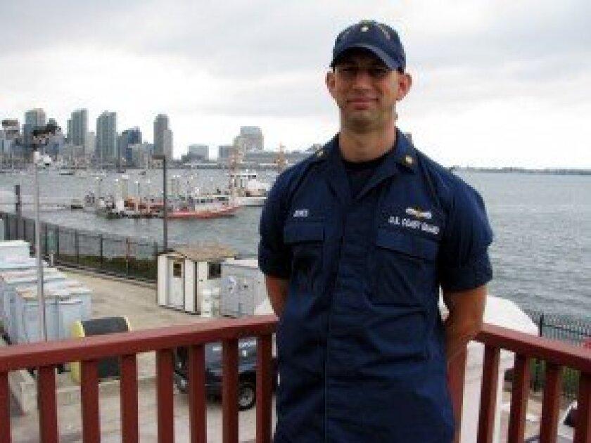 Lt. Cmdr. Matthew N. Jones of the U.S. Coast Guard Sector San Diego. Photo/Jeanne McKinney