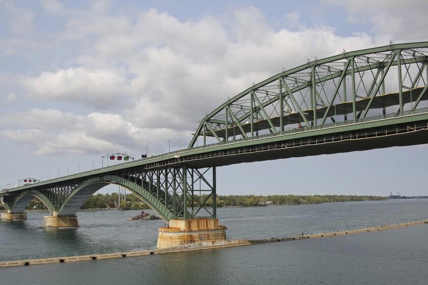 The Peace Bridge near Buffalo, N.Y., where Pascale Ferrier was arrested