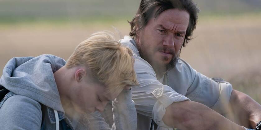 """Reid Miller and Mark Wahlberg in """"Good Joe Bell."""""""