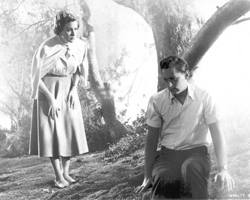 """John Kerr, right, won a Tony Award for the stage version of the play """"Tea and Sympathy"""" and was cast opposite Deborah Kerr, left, in the film directed by Vincente Minnelli."""