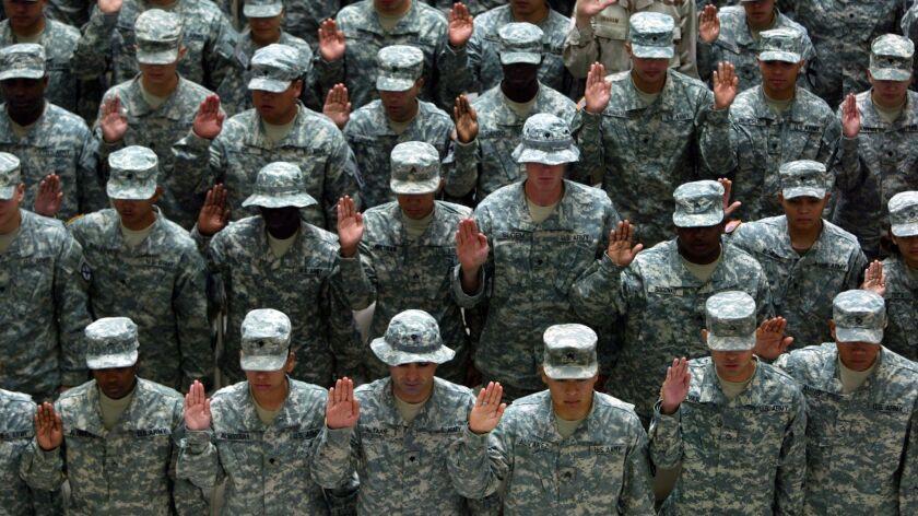 U.S. Soldiers Naturalized In Iraq