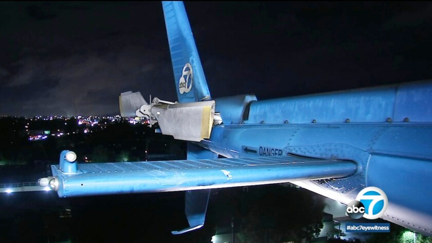 AIR7 HD, ABC-TV Channel 7's news chopper, was struck midair by an object