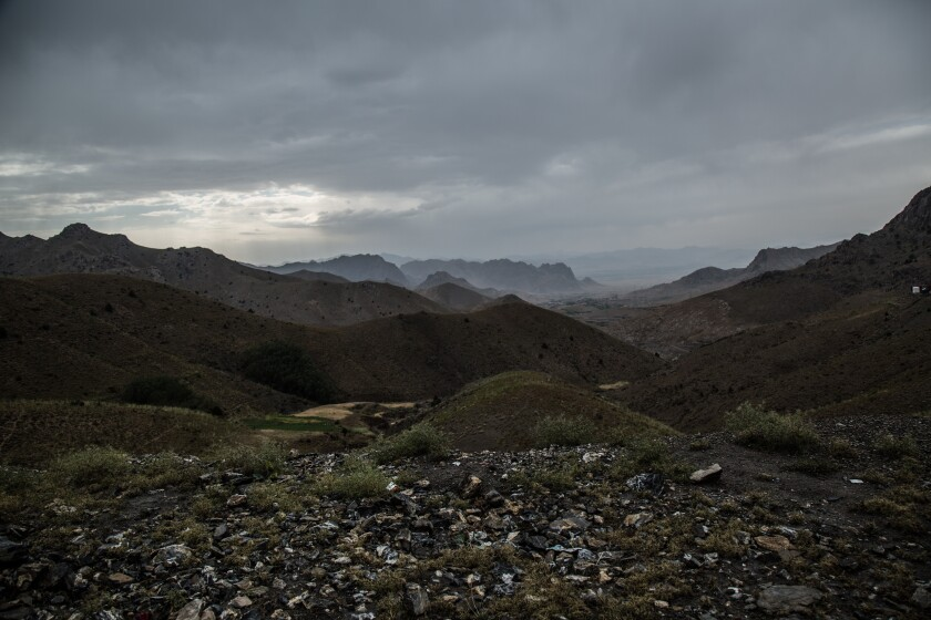 Rural Afghanistan, overlooking Paktia province in the country's east.