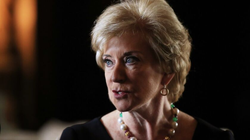Linda McMahon resigned as head of the Small Business Administration to reportedly run the Trump reelection campaign super PAC, America First.