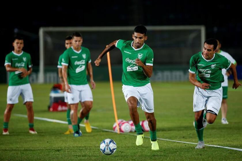 En la imagen, un entrenamiento de los jugadores de la selección boliviana de fútbol. EFE/Archivo