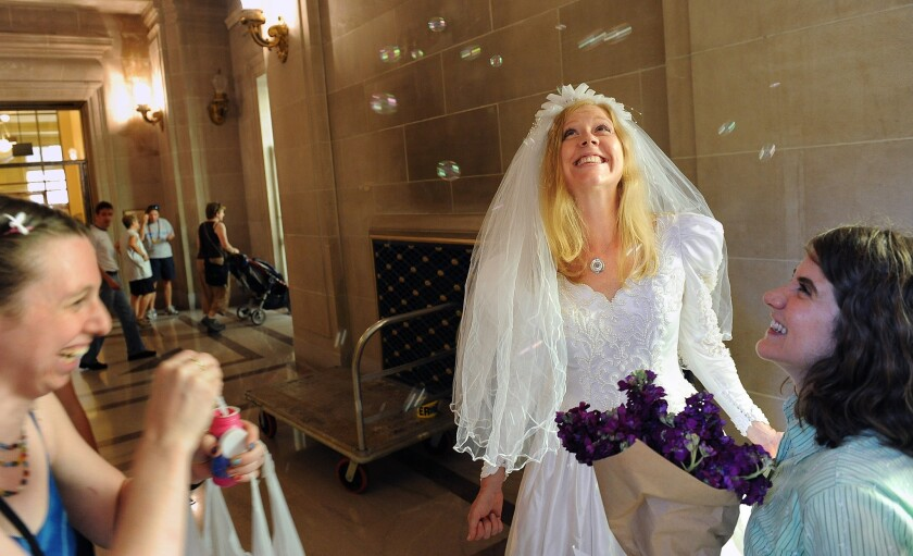 Kamala Harris Officiating Prop 8 Plaintiffs San Francisco Wedding Los Angeles Times