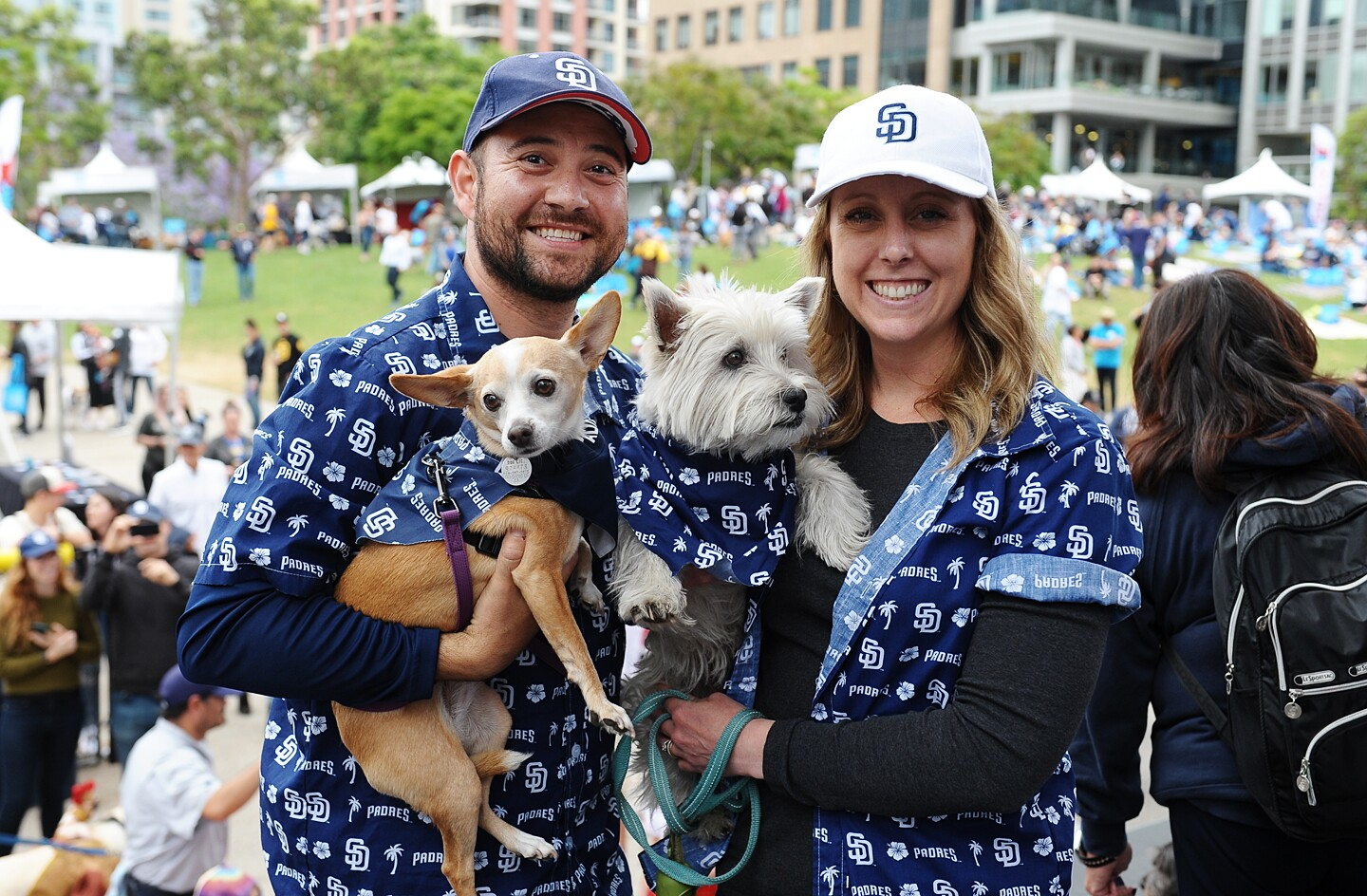 Lucky dogs (and their owners) got to spend the afternoon on the field at Petco Park for Padres Dog Days of Summer on Tuesday, June 4, 2019.