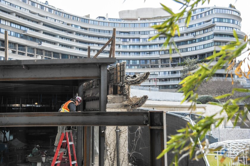 Developers hope to reopen the Watergate Hotel this summer after a $125-million renovation. It will have sly references to the complex's scandalous past.