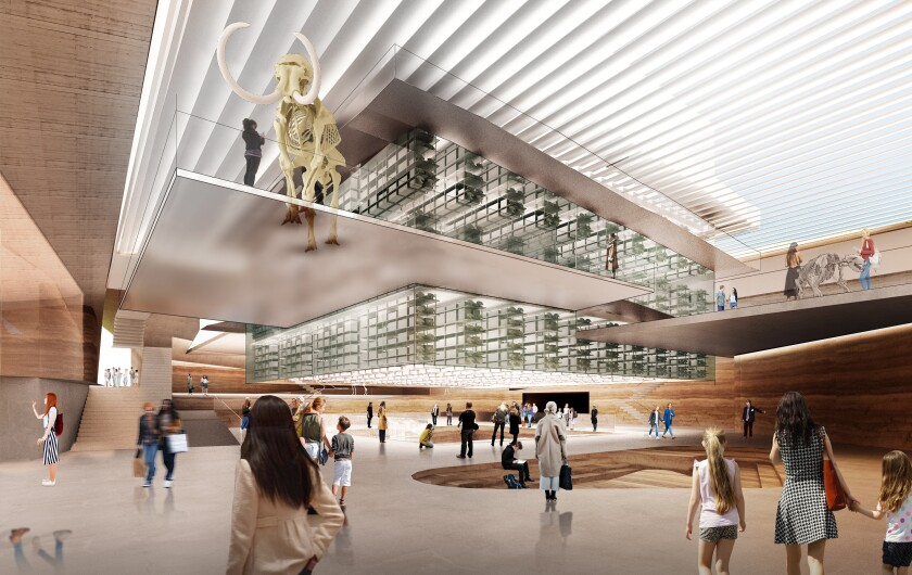 A rendering by Diller Scofidio + Renfro of the Page Museum at the La Brea Tar Pits