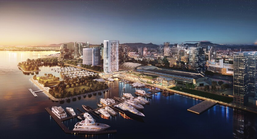 Rendering of proposed Fifth Avenue Landing on San Diego's bayfront
