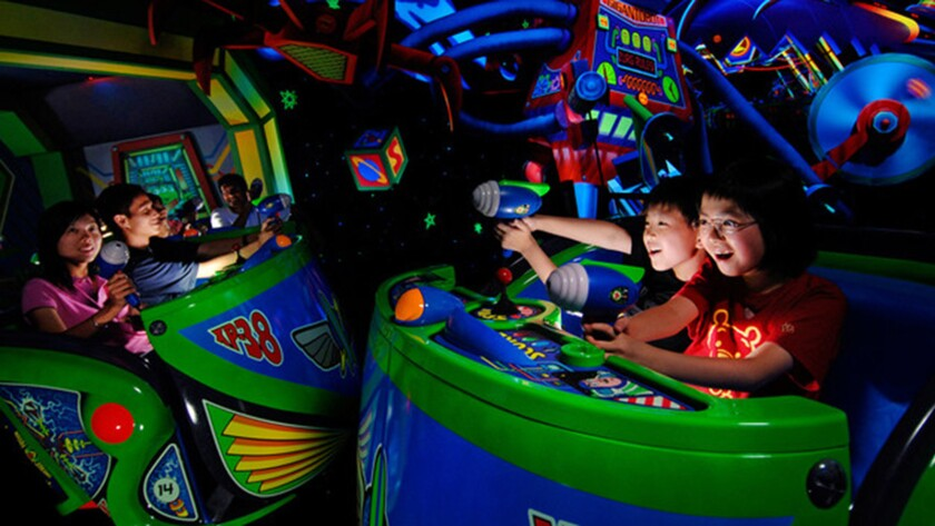 Disney's Buzz Lightyear Astro Blasters is the theme park industry's standard bearer for interactive dark rides.