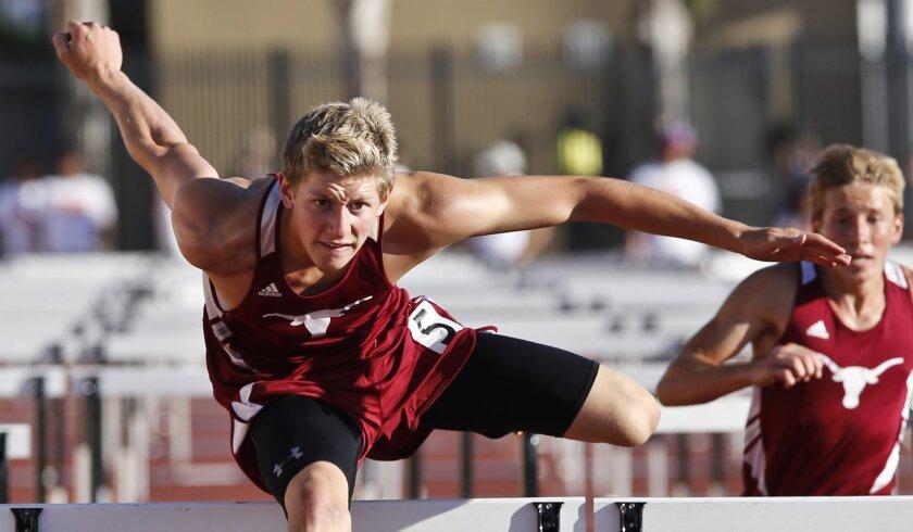 Rancho Buena Vista's Devon Alvarado has the San Diego Section's top time in the 110 hurdles this season with a 14.47.