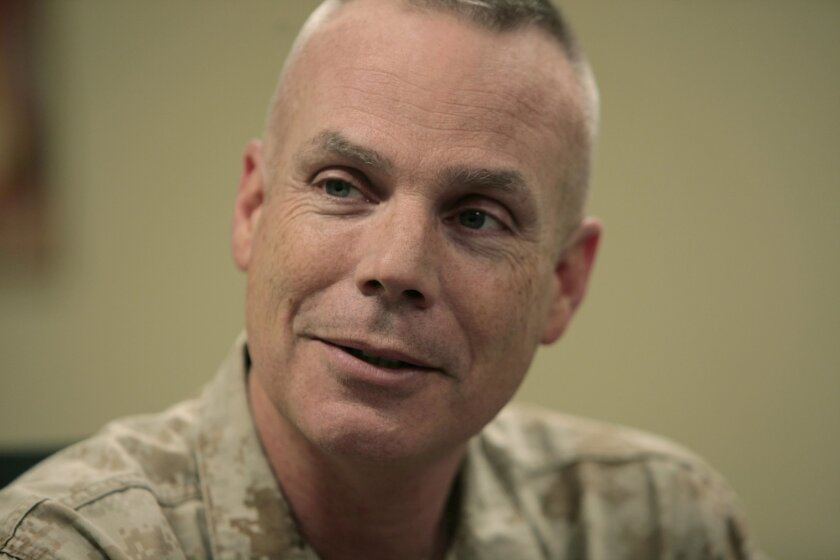 Col. Robert Gardner, the 1st Marine Division's Operations and Planning officer in Helmand province, Afghanistan.