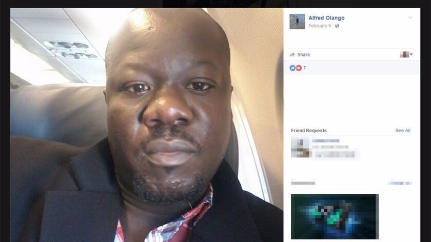 Facebook selfie of Alfred Olango, who was shot to death by an El Cajon police officer on Sept. 27, 2016.