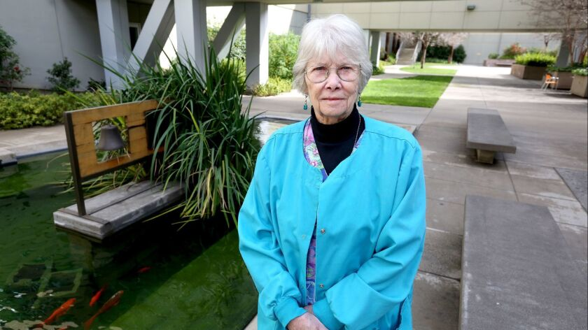 Providence St, Joseph Medical Center senior scheduler Kathy Warner, 75 of Burbank, has been with the