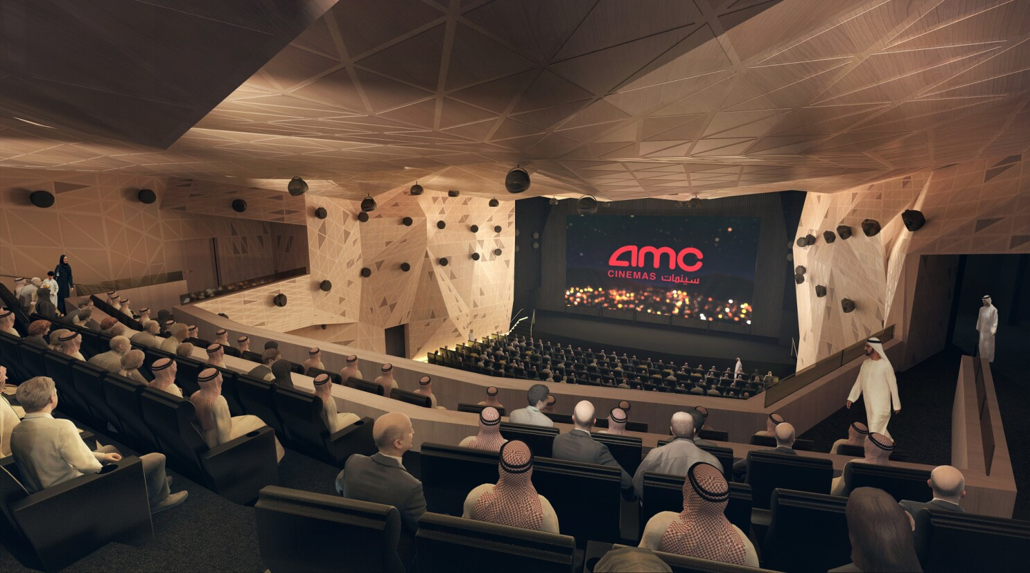 Amc Plans Up To 100 Theaters In Saudi Arabia By 2030 Los Angeles Times